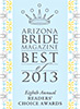 Arizona Bride Magazine Award 2013